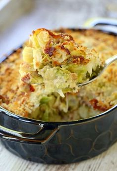 We're calling this The Best Brussels Sprouts Casserole for good reason. One… We're calling this The Best Brussels Sprouts Casserole for good reason. One bite of this casserole and you'll be a sprout fan for good! Veggie Side Dishes, Side Dish Recipes, Veggie Recipes, Food Dishes, Vegetarian Recipes, Cooking Recipes, Christmas Vegetable Side Dishes, Healthy Recipes, Thanksgiving Vegetable Sides