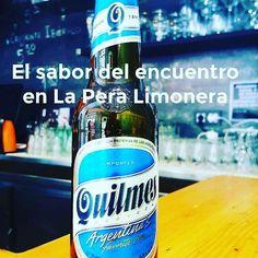 @laperalimoneragastrobar El sabor del encuentro en La Pera Limonera!  te vienes a disfrutarlo?  #Madrid #condeduquegente #quilmes #cervezaargentina @cervezaquiles