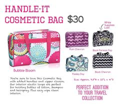 Handle It Cosmetic Bag - also makes great Bible Bag! Thirty-One