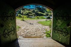 DIVERGENT TRAVELERS Favorite Photos from the North Island, New Zealand | DIVERGENT TRAVELERS #hobbiton #newzealand  View into the Shire from the Green Dragon at Hobbiton