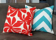 How To - Easy Envelope Pillow Covers