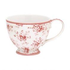 GreenGate Stoneware Teacup Abelone Raspberry D 11,5 cm