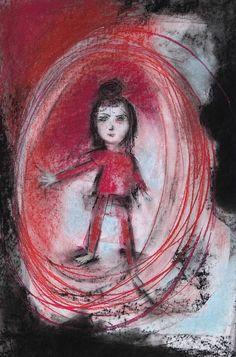 Red and black. Pastels, Red, Painting, Black, Black People, Painting Art, Paintings, Drawings, Rouge