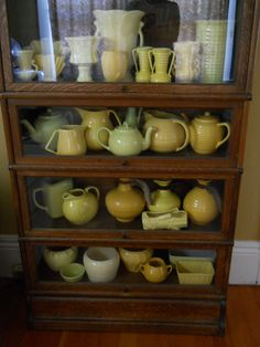 vintage yellow pottery