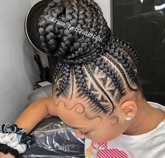 Braided Hairstyles For Black Women, Braids For Black Women, African Braids Hairstyles, Protective Hairstyles, Girl Hairstyles, Black Braids, Easy Hairstyles, Braids For Kids, Braids For Short Hair