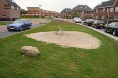 groen indeling met speel gelegenheid idee voor de wijk.