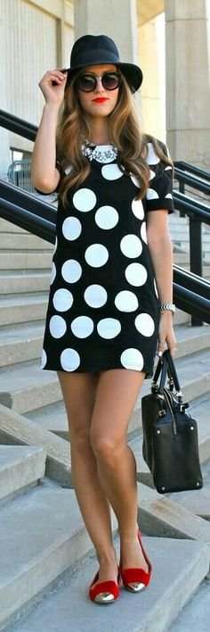 Cool casual polka dot elegant dress for the modern fashionista Trendy design offers a unique stylish look Perfect for special occasions or parties Made from high quality material Dress Shorts Outfit, Skirt Outfits, Trendy Dresses, Casual Dresses, Short Dresses, Cool Summer Outfits, Cool Outfits, Girl Fashion, Fashion Outfits