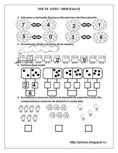 Kindergarten Math Worksheets, Math Literacy, Preschool Math, Math 2, Educational Activities For Kids, Kids Learning, Planet Coloring Pages, Teaching Emotions, Kids Schedule