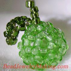 * Beaded Green Apple