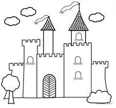 Divertidos dibujos de castillos para imprimir y colorear