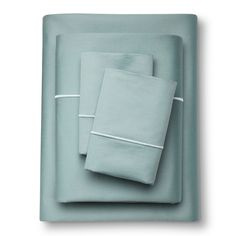 Egyptian Cotton Sheet Set (Cal King) Aqua Spill 1000 Thread Count - Fieldcrest