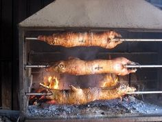 Nothing like a Serbian picnic on the church grounds Serbian Christmas, Pig Roast Party, How To Cook Lamb, Barbecue Design, Croatian Recipes, Pork Dishes, Pork Roast, Outdoor Cooking, Croatia