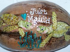 Just Maui'd Coconut Postcard Wedding Gift by NutsAboutMaui on Etsy, $14.80