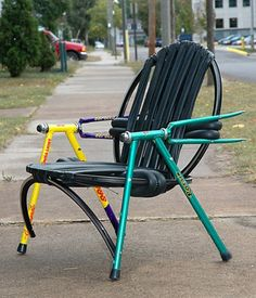 Fantastic but did they really have to cut up a Serotta and Rossin to make chair??