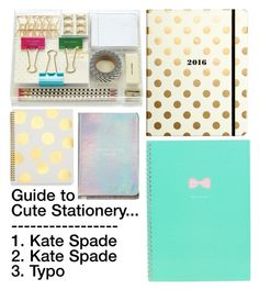 """""""Cute Stationery"""" by emiliajf ❤ liked on Polyvore"""