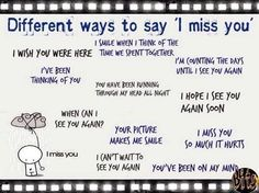 "Forum | ________ Learn English | Fluent LandDifferent Ways to Say ""I miss you"" 