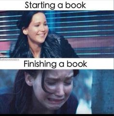 Me before and after Allegiant. It's rare that a book makes me sob lol. Same happened to two of my friends.