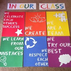 Classroom Norms rather than rules. Free printable.