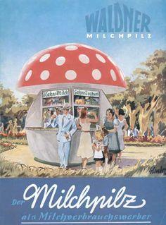 mushroom shaped smoothie vendor