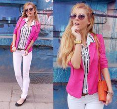 Sheer with thin blue stripes  (by Sirma Markova) http://lookbook.nu/look/3228583-sheer-with-thin-blue-stripes