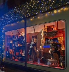 Feeling festive: Exquisite designer evening gowns, elegant jewellery, children's toys and deluxe luggage feature in each Christmassy carriag...
