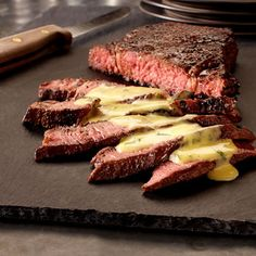 Chile Seared Steak With Cilantro Lime Hollandaise Sauce Recipe from Land O'Lakes