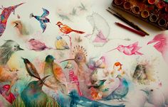 Whimsical Storybook Beasts and Birds Illustrated by Vorja Sánchez