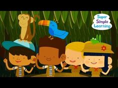 Walking in the Jungle song for students to sing and move to. Here is the link for the movement activities: http://supersimplelearning.com/songs/themes-series/animals/walking-in-the-jungle/