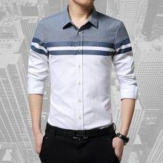 2017 spring new brand casual men shirt long sleeve slim Fit shirts Men's dress Shirt vetement chemise homme Striped Long Sleeve Shirt, Long Sleeve Shirts, Mens Shirts Brands, Men Shirts, Chemise Slim Fit, Shirt Outfit, Shirt Dress, Formal Shirts For Men, Stylish Mens Outfits
