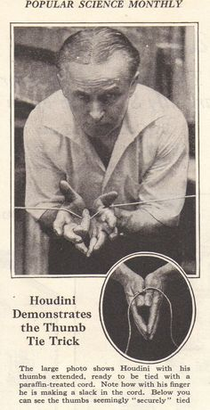1926 MAGAZINE COPIES- MY ROPE ESCAPES- BY HARRY HOUDINI: MYSTIFY YOUR FRIENDS