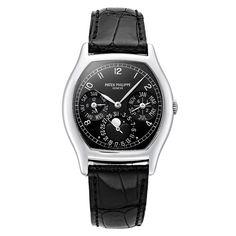 PATEK PHILIPPE Platinum Perpetual Calendar Automatic Wristwatch Ref 5040P