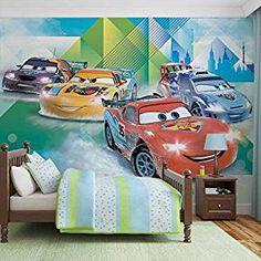 Autozimmer: Disney Cars Lightning McQueen Camino - Wallsticker Warehouse - Fototapete - Tapete - Fotomural - Mural Wandbild