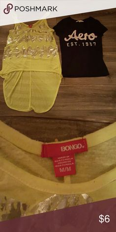 Women's Shirt Bundle No holes, tears, or stains. Great Condition. Smoke free home. Bongo is Medium. Aero is Small BONGO Tops Tank Tops