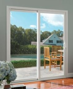 Sliding patio doors to increase the aesthetic look of your home in 2020 Double Sliding Patio Doors, Sliding Glass Door, Sliding Doors, Unique House Design, Unique Home Decor, Modern Patio Doors, Blinds For French Doors, White Wood Kitchens, New Home Builders