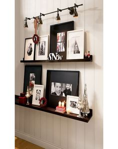 PB Home Decor with a mix of black and white frames