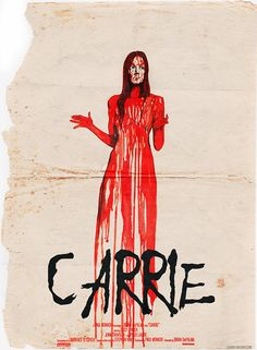 A touchstone for modern horror, Brian De Palma's Carrie remains a brutal and brutish look at the ultimate outsider: a teenage girl who can move things with her mind. Stephen King It, Stephen King Movies, Horror Movie Posters, Horror Movies, Film Posters, Carrie Movie, Carrie White, Non Plus Ultra, Movie Covers