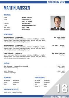 Onderscheidend CV sjabloon met een zakelijke uitstraling, http://deleydsche.nl/product/cv-sjabloon-18