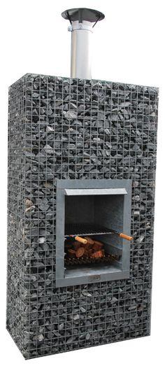 BBQ haard van steenkorven info zie http://www.gabion-schanskorven.be/terrashaarden