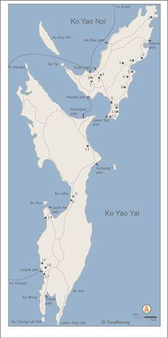 Free map of Ko Yao Noi and Ko Yao Yai
