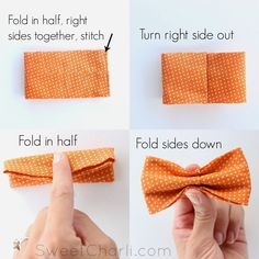 No Sew Newborn Baby Toddler Or Kid Bow Tie Tutorial Diy Bow