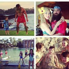 Duck Dynasty's the Robertson's on vacation in Hawaii