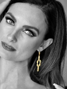 Gold Vermeil Knot Earrings from Italy.  So Stunning.