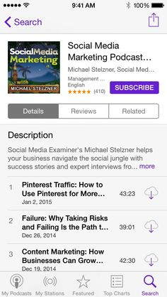 This is a, great resource for social media marketing!                                   to Subscribe to a Podcast: iOS, iPhone - Social Media Examiner