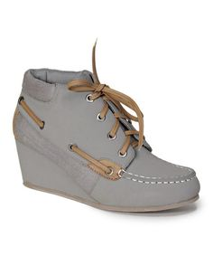 Loving this Gray & Natural Paddy Bootie on #zulily! #zulilyfinds
