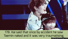 "Exo Facts...whoa wha-hoaa......I can just imagine how awkward it must've been between these two after this ""incident"" lolol"