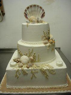 Cake idea-don't like the shell on top, but I like the design