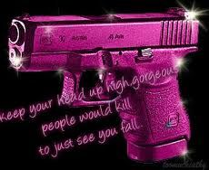 Create and share pink guns graphics and comments with friends.