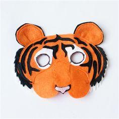 Tiger Mask - Felt - Book Week - Costume & Jungle themed paper plate tiger mask | Craft crafts! | Pinterest ...