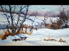 VIDEO: How to paint a snow scene in watercolour