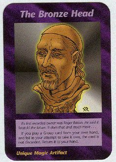 Illuminati card game, the bronze head